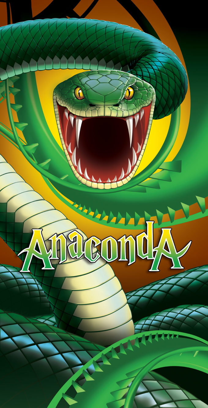 A fearsome Anaconda for a thrilling Roller Coaster Ride at Gold Reef City.