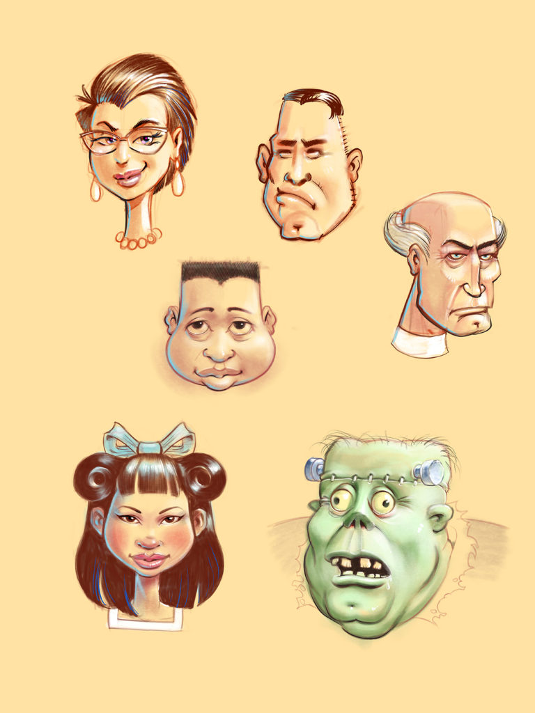 assorted funny faces